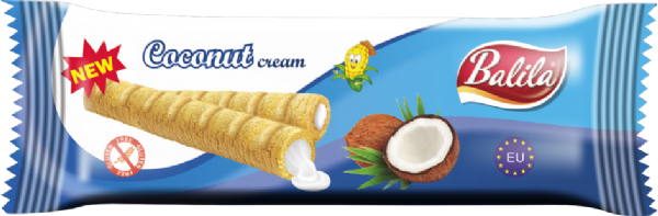 Balila Gluten Free Corn Tube - Coconut Cream (box of 8)